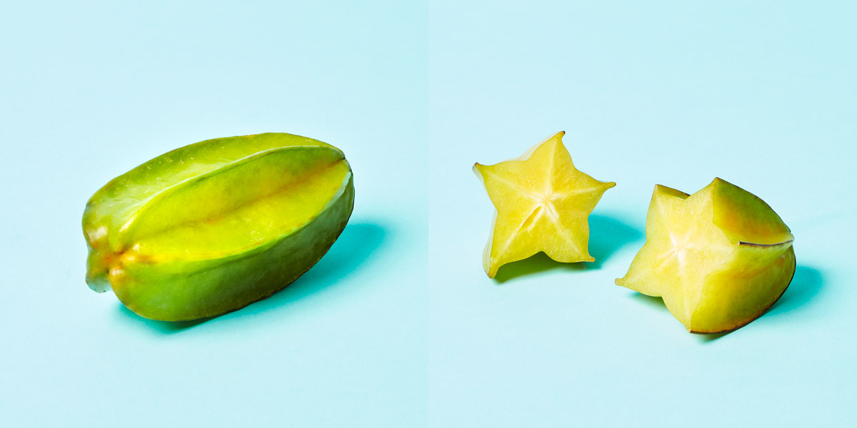 Star Fruit opened and closed