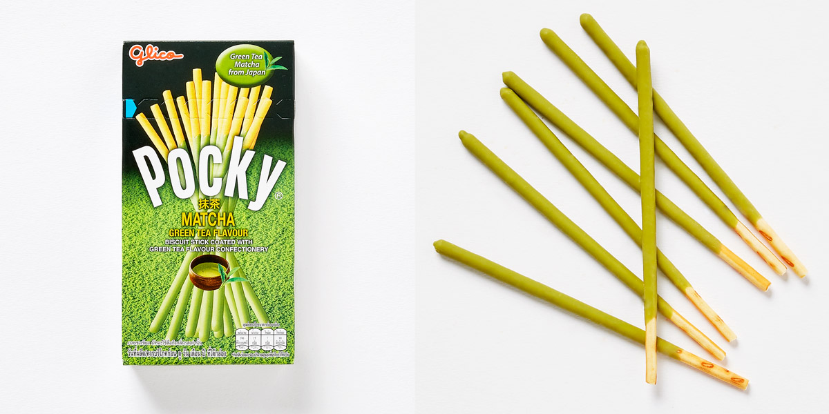 Pocky bag and content spilled out