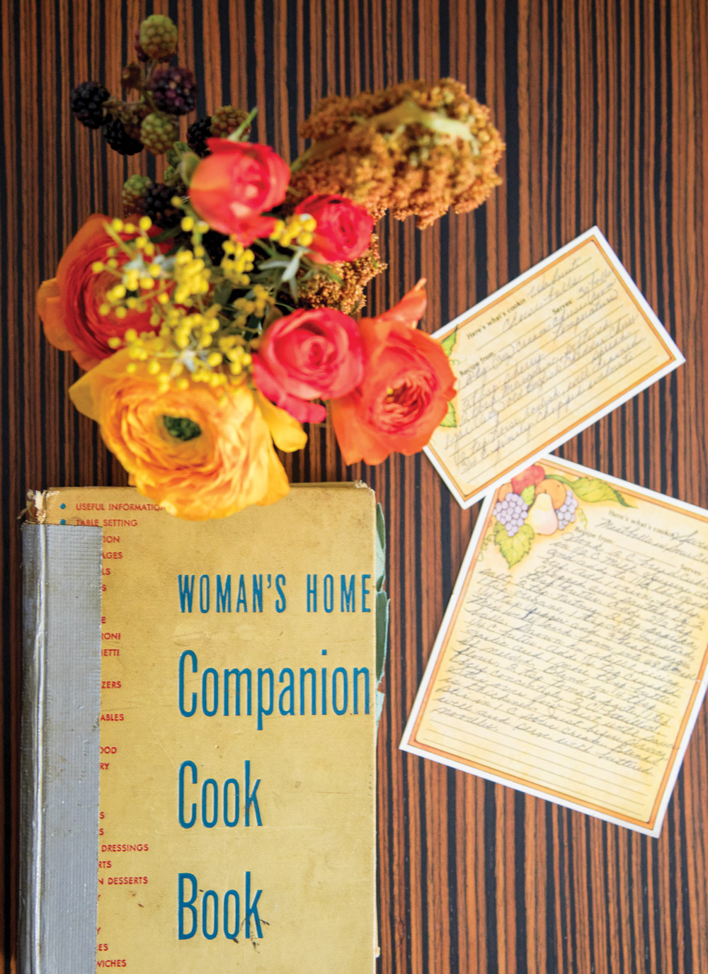 The menu was derived from vintage books and family recipe cards.