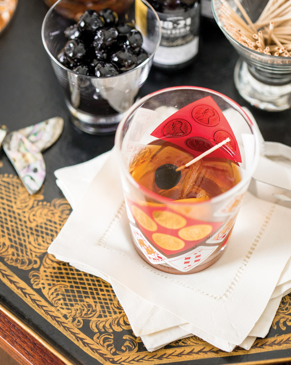 Classic Old-Fashioned cocktail