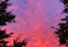 Pink sky Atlanta photos