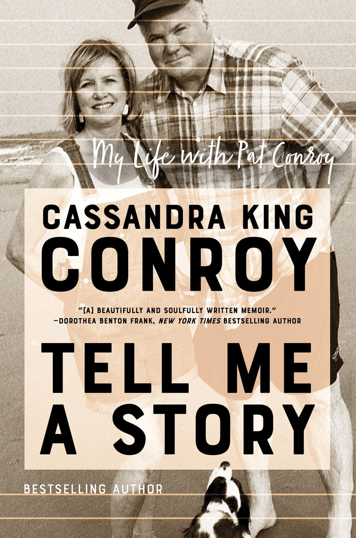The book cover with a candid photo of Cassandra King and Pat Conroy