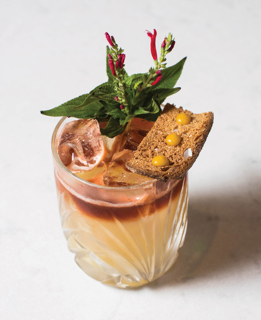 The Tropical Grains cocktail