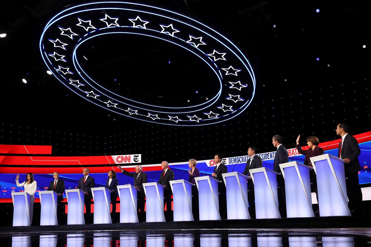 Democratic Debate Atlanta where Candidates are