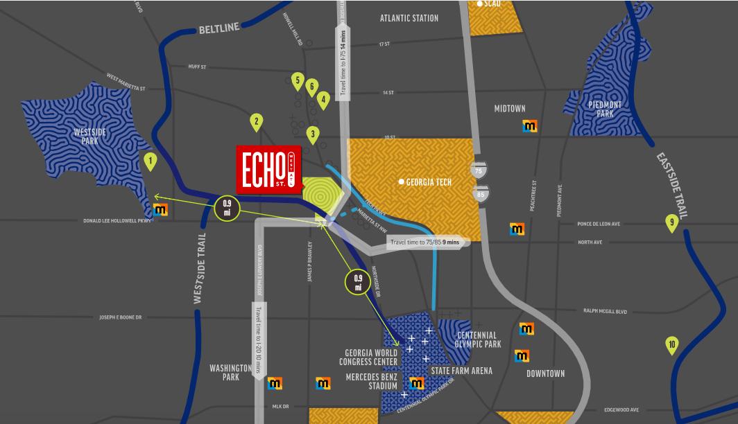 Echo Street West map