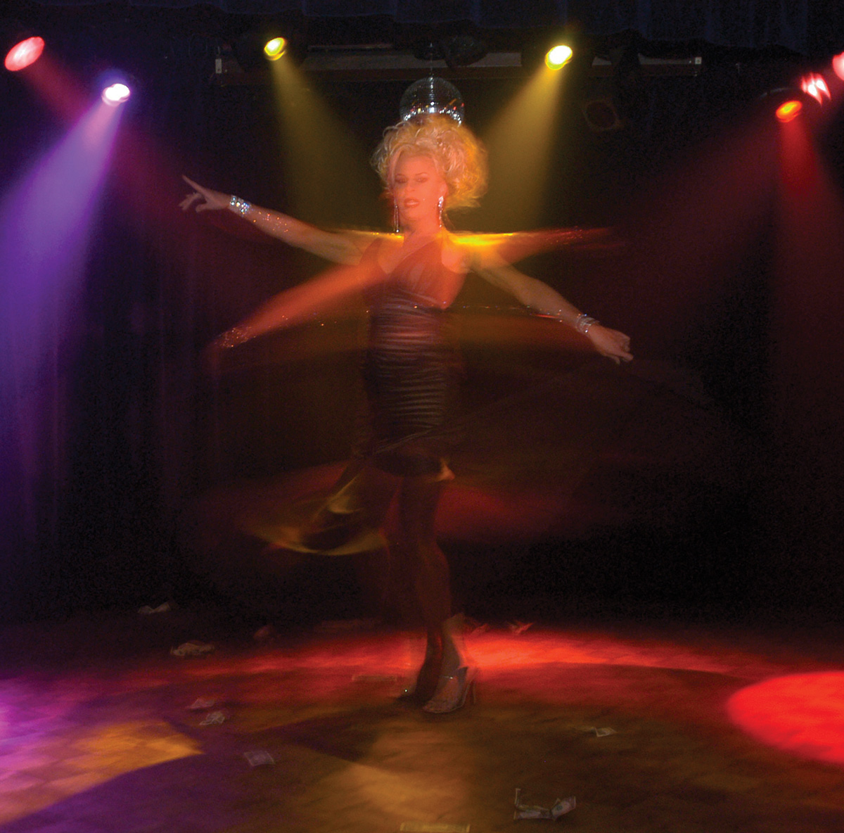 """Cabaret performer Raven """"The Goddess"""""""
