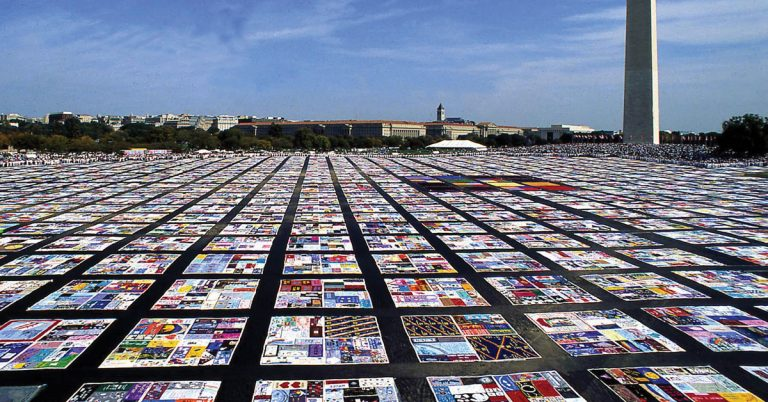 The AIDS Memorial Quilt remains a powerful symbol