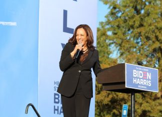 Kamala Harris campaigns at Morehouse College