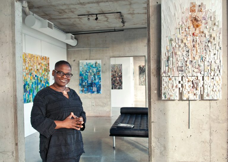 """Atlanta artist Lillian Blades's three-dimensional """"quilts"""" tell the story of her life"""