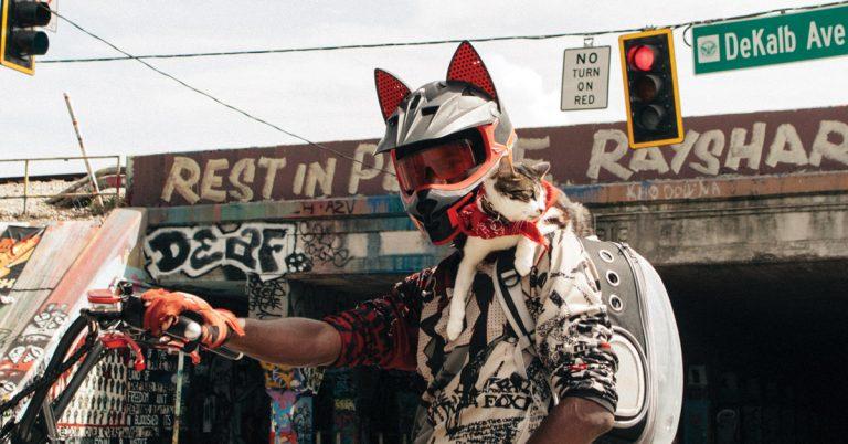 Jeremy Smith—aka BeltLine Cat Guy—explains life with a feline sitting shotgun