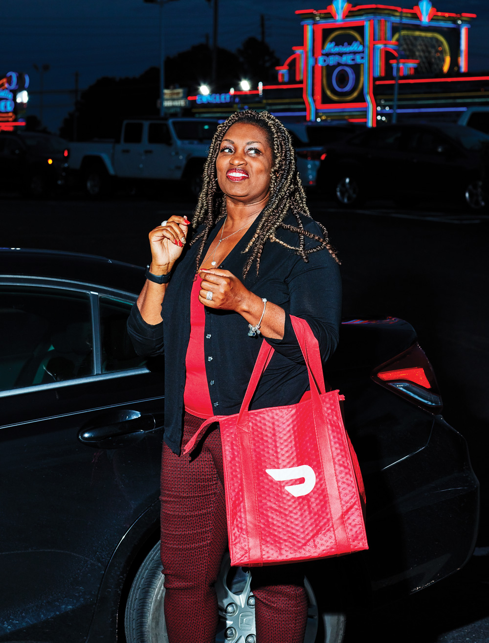 Kimberly Smith, who works with Postmates and DoorDash