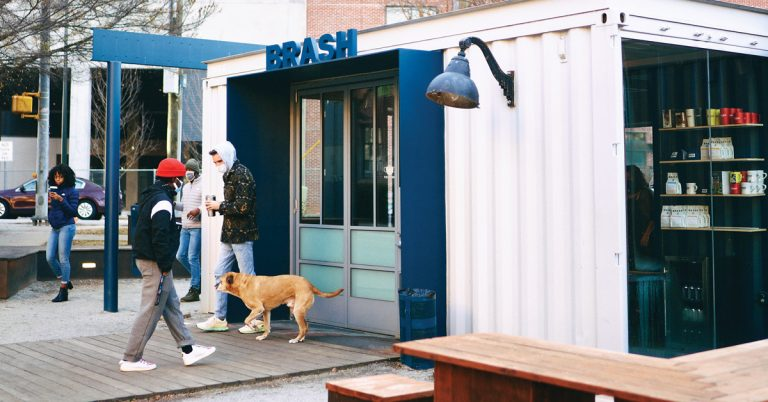 Brash Coffee was my office and my muse